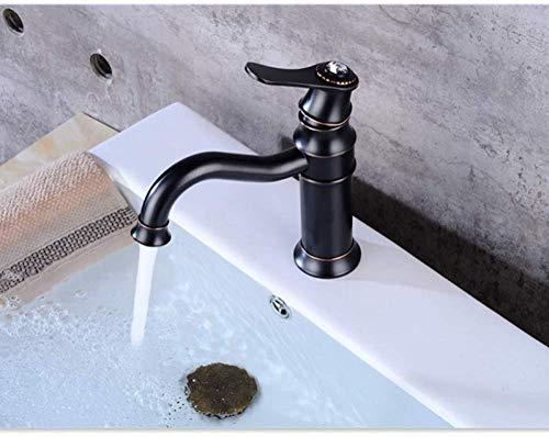 Waschtischarmaturen Messing Öl Eingerieben Bronze Waschbecken Wasserhahn 1 Hebel Loch Arbeitsplatte...
