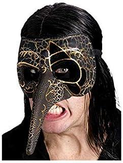 Horror-Shop máscara veneciana pico negro/oro