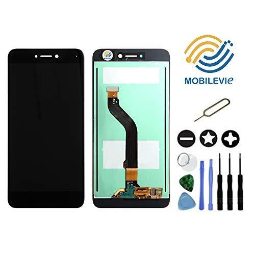 Mobilevie VITRE Tactile + ECRAN LCD Original Pret-A-Monter pour Huawei P8 Lite 2017 Noir + Outils