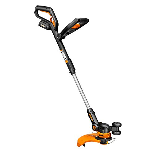 Worx 20V Battery + Charger Included 20-Volt GT 2.0 String Trimmer/Edger/Mini-Mower with Tilting Head and Single Line Feed – WG160