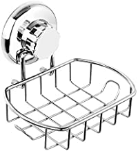 HASKO accessories Suction Soap Dish with Hooks | Powerful Vacuum Suction Cup Soap Holder | Soap Basket Sponge Holder for B...