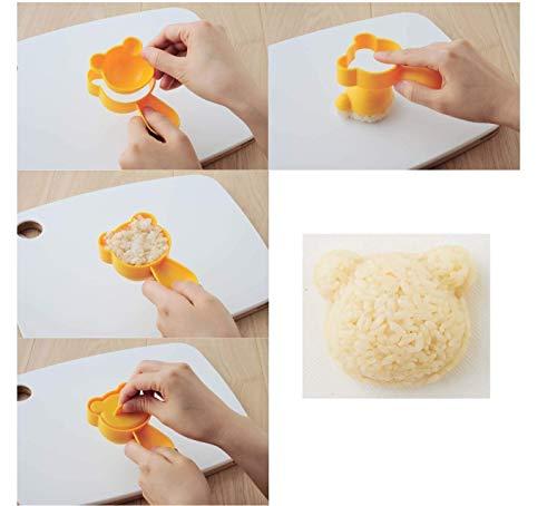 アーネストキャラ弁(おにぎり型)かんたん型抜き(くまさんとなかまたちセット)大手飲食店愛用ブランドA-76710