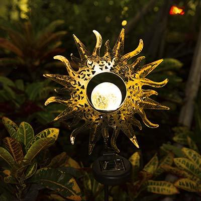 Sun Solar Lights Outdoor Decorative Waterproof Metal Solar...