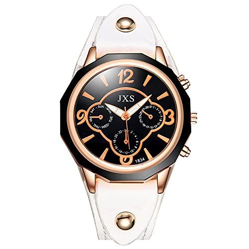 ZRSJ Reloj de cinturón de Hombres Reloj de Piedra de la Moda(marrón)