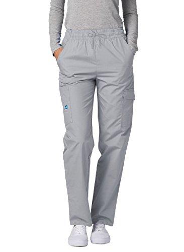 Adar Universal Scrubs For Women - Tapered Cargo Scrub Trousers - 506 - Silver Gray - L