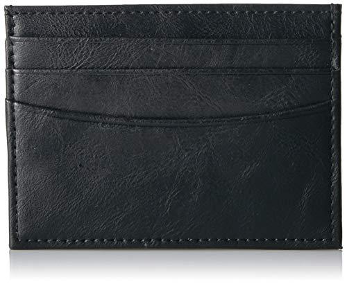 Amazon Essentials - Cartera minimalista delgada para hombre con bloqueo de RFID, Negro (Black 001), One Size