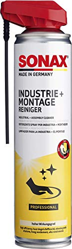 SONAX Industrie- & MontageReiniger mit EasySpray (400 ml) schnell ablüftend, löst Öl-& Fettverschmutztungen, Klebstoffe, Farben und Schutzkonservierungen | Art-Nr. 04843000