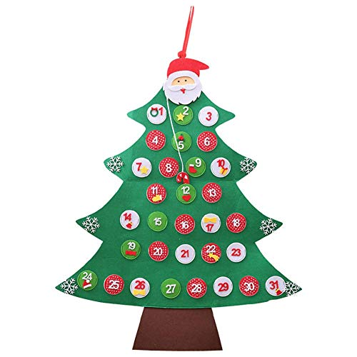 Bendicx Nieuwigheid Kerstmis Adventskalender kerstboom muur opknoping sieraad decoratie voor thuis B
