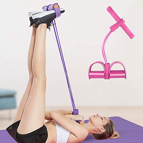 Soudittur Body Bauchtrainer Multifunktions-Leg-Exerciser Pedal Widerstandsbänder - Sit-up Bodybuilding Expander für Fitness/Schlankheitstraining Zubehör Zuhause als Trainingsgerät (Rosa)