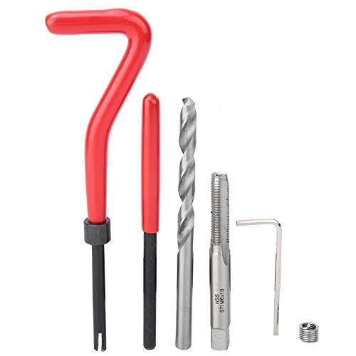 88 Stück/Set Tragbares, leicht zu tragendes Gewindereparaturset, Gewindeschneidwerkzeug, Wartungsgerät für Heimwerker Mechaniker Hardware Werkstattwerkzeug