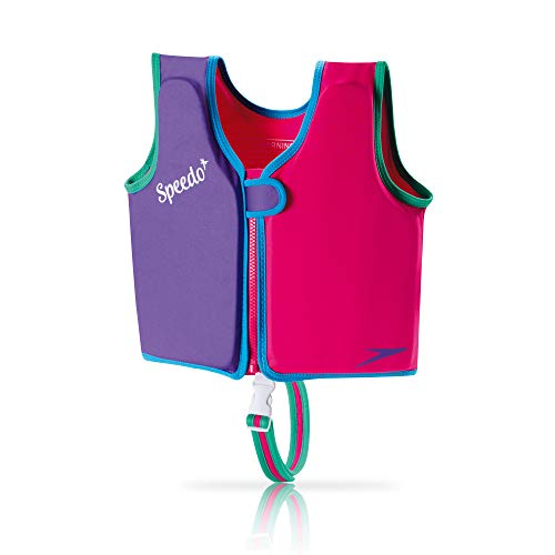 Speedo Unisex-Child Swim Flotation Classic Life Vest Begin to Swim UPF 50, Berry/Grape, Large