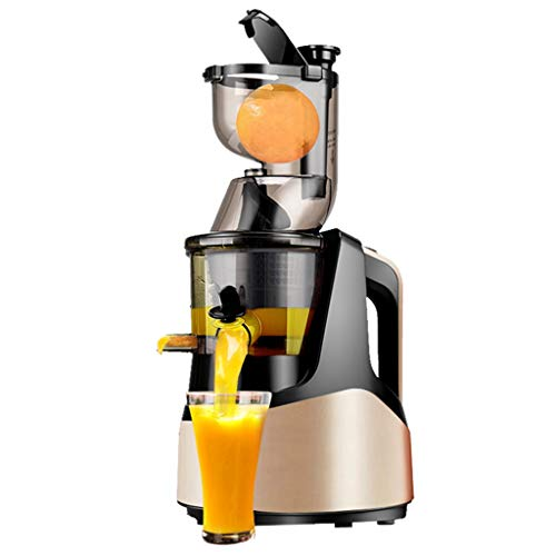 Fruta y Vegetal Cold Press Extractor de Jugo Slow Juicer, Sorbete y Helado de Frutas - Boca Ancha de 80MM, Extractor de Masticación Lenta, diseño de bajo Ruido (Color : C)
