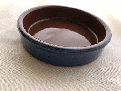 スペイン製耐熱陶器 CAZUELA カスエラ 11cm カラー:青