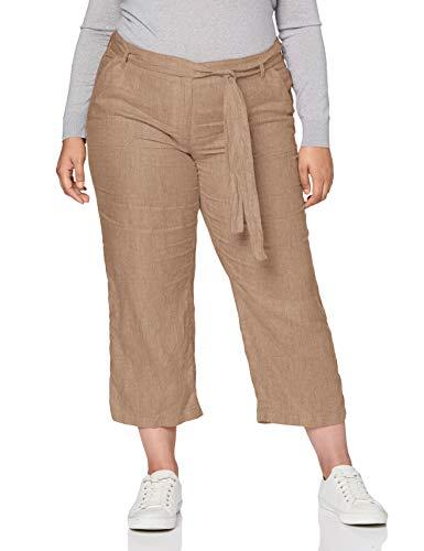 BRAX Damen Style Maine Leinen Hose, Toffee, 42W / 32L