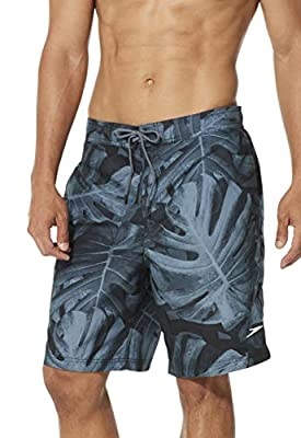 Speedo Men's Swim Trunk Knee Length Boardshort E-Board Comfort Liner Printed