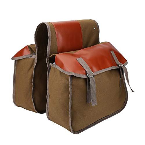 Bolsa para portabicicletas - Bolsa doble Bolsa de almacenamiento para portabicicletas trasero Bolsa de sillín de gran capacidad para bicicletas Bicicletas eléctricas Tamaño de bolsa individual 15 x 12