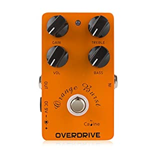 Caline CP-18 Overdrive Pre-Amp Pedal für E-Gitarre Elektro Effektgerät Stereo Orange