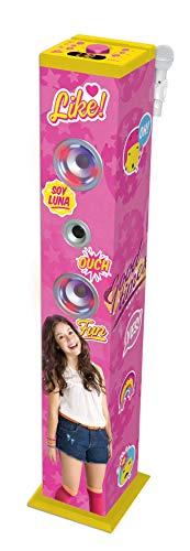 Lexibook K8050SL Bluetooth Soundturm mit Licht, mädchenhaftes Design, Mikrofon zum Singen, Echofunktion, Pink/Gelb