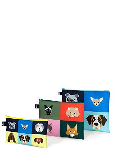 LOQI Stephen Cheetham Dogs & Cats Zip Pockets