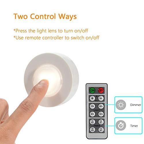 Draadloze dimbare LED Hockey Licht Touch Sensor Onder De Keuken Kast Licht Dicht Garderobe Trappen Gang Nachtlampje