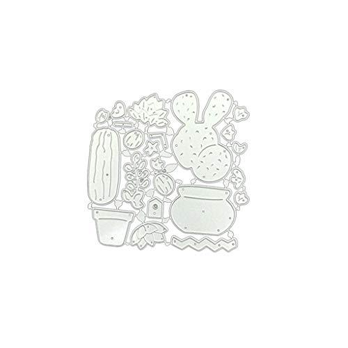 Wuweiwei12 1 Set Kaktus DIY Metall Stanzschablone Scrapbooking Fotoalbum Stempel Papier Karten Basteln Decro