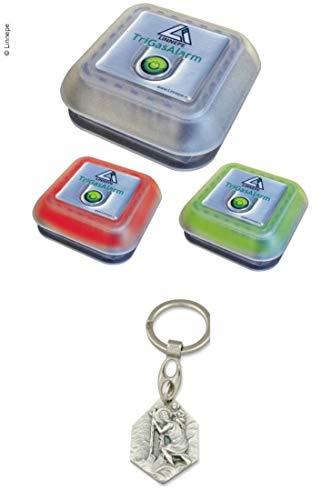 Zisa-Kombi Gaswarngerät TriGas für Betäubungsgase mit Sirene (93298880247) mit Anhänger Hlg. Christophorus