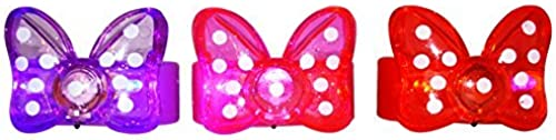 BEST PARTY FAVORS GIFTS 12 Minnie Bow - Bowcravate Polkadot Flashing lumière-Up Bracelets  Lavender, rouge, rose by Exclusive Gifts