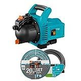 GARDENA 01717-61 Gartenpumpe 3000/4 SET, 600 W, türkis, schwarz, Orange