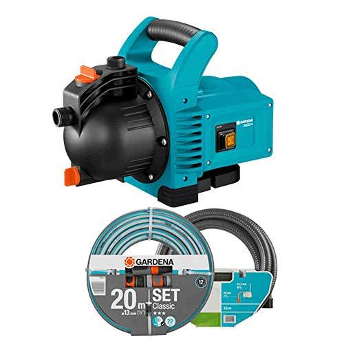 GARDENA 01717-61 tuinpomp 3000/4 SET, 600 W, turquoise, zwart, oranje
