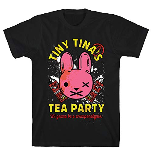 LookHUMAN Tiny Tina's Tea Party Large Black Men's Cotton Tee