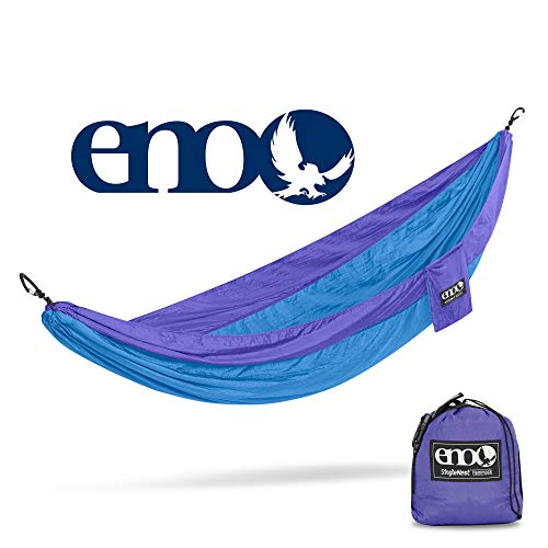ENO, Eagles Nest Outfitters SingleNest Lightweight Camping Hammock, Purple/Teal