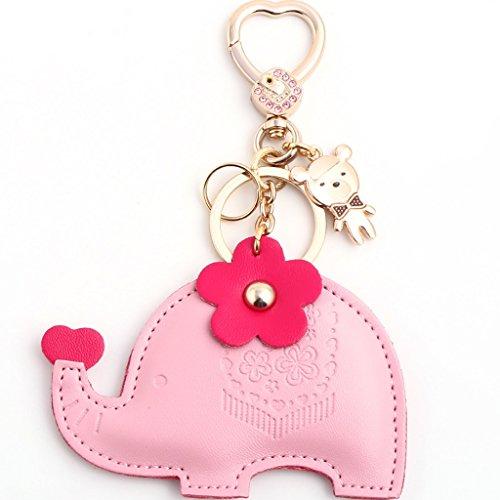 MXD Lustige Cartoon Tier Elefant Form Keychain Paar Geschenk Handtasche Schlüsselanhänger für Mädchen Geburtstagsgeschenk Schlüsselhalter Clip für Liebhaber Valentinstag Geschenk