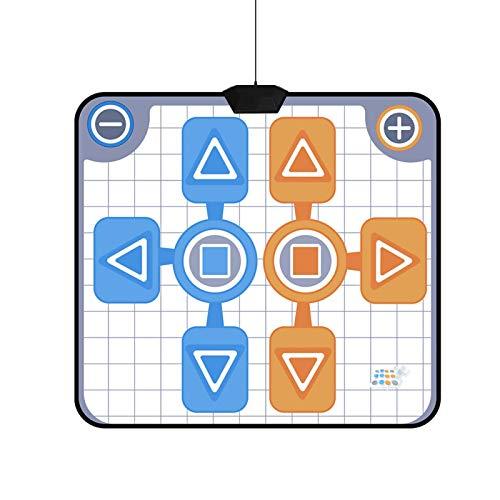Goshyda Alfombrilla de Baile Antideslizante para Dos Personas, Alfombrilla de Baile de acción para 2 Jugadores Suave portátil Plug and Play para Wii Alfombrilla de Baile Antideslizante