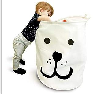 PUBAMALL Cesta de Almacenamiento o contenedor,Manijas portátiles y duraderas, Los cestos plegables plegables de la ropa son ideales para la habitación de los niños, dormitorio de la universidad, dormitorio del baño (Cachorro sonriente)