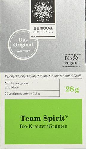 Samova Team Spirit Express - Grüntee/Kräuter/Lemon (20 Beutel 1,4g), 1er Pack (1 x 28 g)