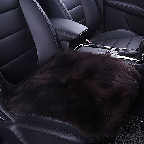 W-Lynn auto wol kussen, voorste rij enkele pad, 45 * 45 vierkante pad, Australische zachte wol stoel kussen comfortabel en warm, ademend anti-statisch Koper