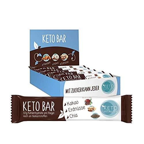 Keto Bar 15-er Box, Keto Riegel, lower carb, zuckerarm und vegan