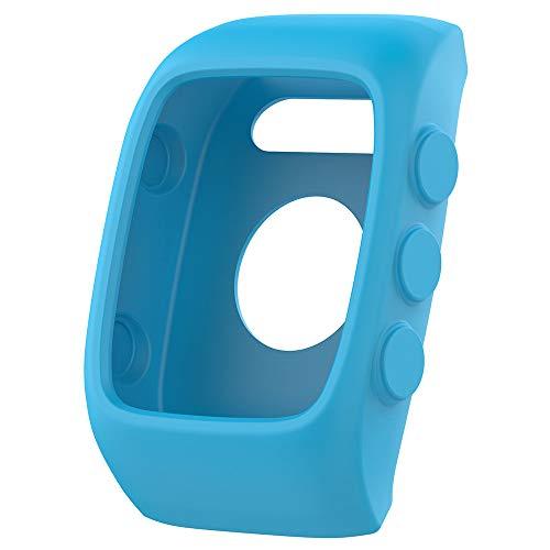 für Polar M400 M430 Watch Hülle Displayschutz Ersatzband Schutzhülle, Weich Silikon [schmutzabweisend] [wasserdicht] Stoßfest und bruchsicher Schutzhülle (Blau)