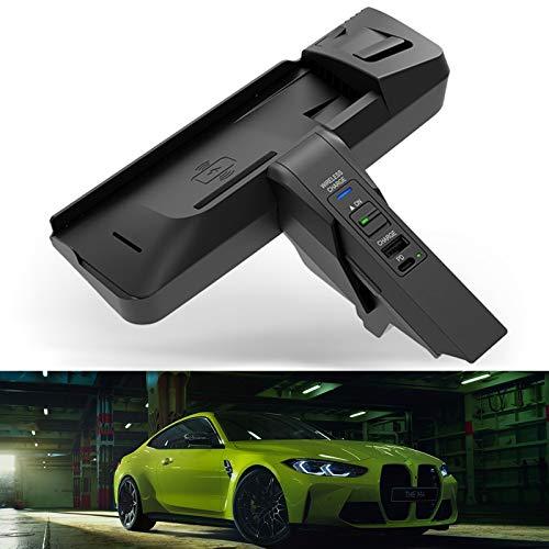 Cargador inalámbrico para automóvil para BMW (2013-2015) Serie 3 / Serie 4 Todos los modelos (2014-2020) M3 / M4 Todos los modelos, Cargador de teléfono de carga rápida de 15 W para iPhone 12 Pro MA