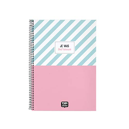 Cuaderno de espiral A4 – Je vais todo éxito
