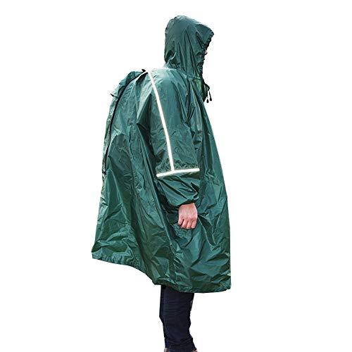 GNNHY 210T Polyester Taffeta Outdoor Rugzak Regenjas Grote Maat Matten Luifel Regenjas Reflecterende Handige Zak, 100% Waterdicht