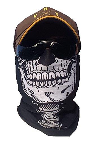 Salt Armour ORIGINAL SVoKI Skelett Totenkopf Halstuch Schlauchtuch Schal Maske Kälteschutz Gesichtsmaske Halloween Skifahren Snowboard Angeln Jagen Fahrrad Motorrad Paintball Multifunktionstuch