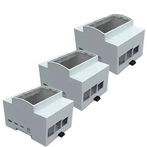 Digitalkey Case für Raspberry PI 4 auf DIN-Schiene - Modulares Gehäuse für Schalttafeln (3 PCS)
