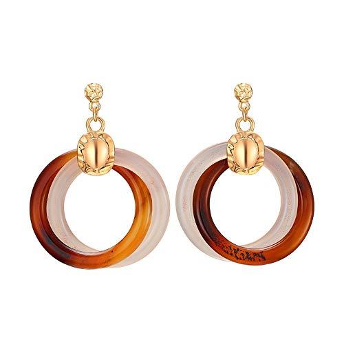 UOUAY dames sieraden oorbellen acryl hanger oorbellen cadeautjes voor verjaardag Valentines verjaardag vrouw meisje moeder koffie kleur