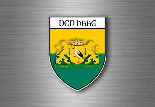 Sticker decal souvenir auto wapen schild stad vlag de haag Nederland