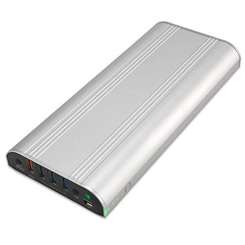 GISSARAL 26800mAh 99wh Power Bank Tragbares externes Ladegerät für 2017 Surface Pro,Pro 4,Pro 3,Book/Book 2, 4 USB Ports Schnellladung für Tabletten oder Smartphones -Silber