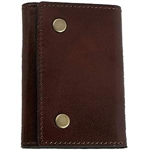 ブラウン 財布 メンズ 中ベラ財布 三つ折り イタリアンレザー ショートウォレット コンパクト 革財布 カード入れ 小銭入れ 札入れ 天然皮革 本革 薄い 高級 シンプル ブランド プレゼント ギフト 父の日 PRHA-6002-BR_g7