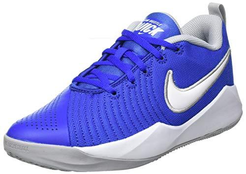 Nike Team Hustle Quick 2 (GS), Zapatillas de Baloncesto Unisex Adulto, Multicolor (Game Royal/White/Wolf Grey 400), 38.5 EU