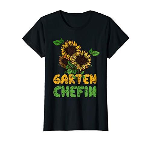 Damen Garten Chefin Gärtnerin Sonnenblume Ruhestands Geschenk T-Shirt