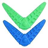 VILLCASE 2 piezas de goma Bumerang para perros al aire libre, juguete de entrenamiento ligero para perros